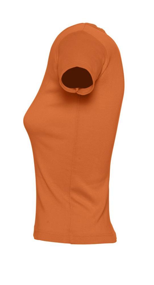 Футболка женская с круглым вырезом LADY 220 оранжевая
