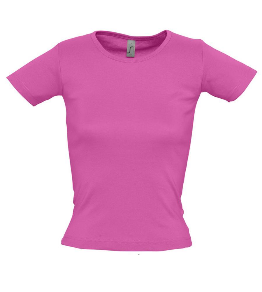 Футболка женская с круглым вырезом LADY 220 ярко-розовая