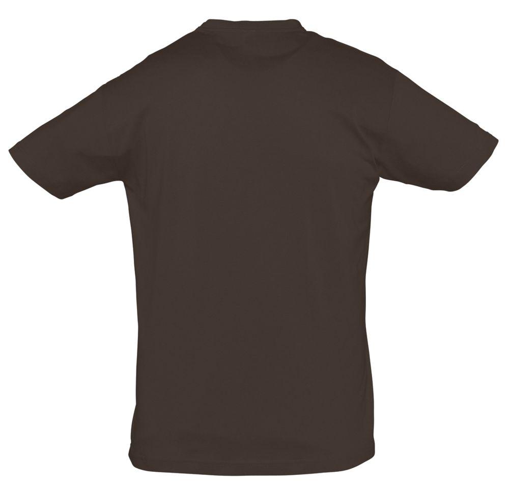Футболка REGENT 150 темно-коричневая (шоколад)