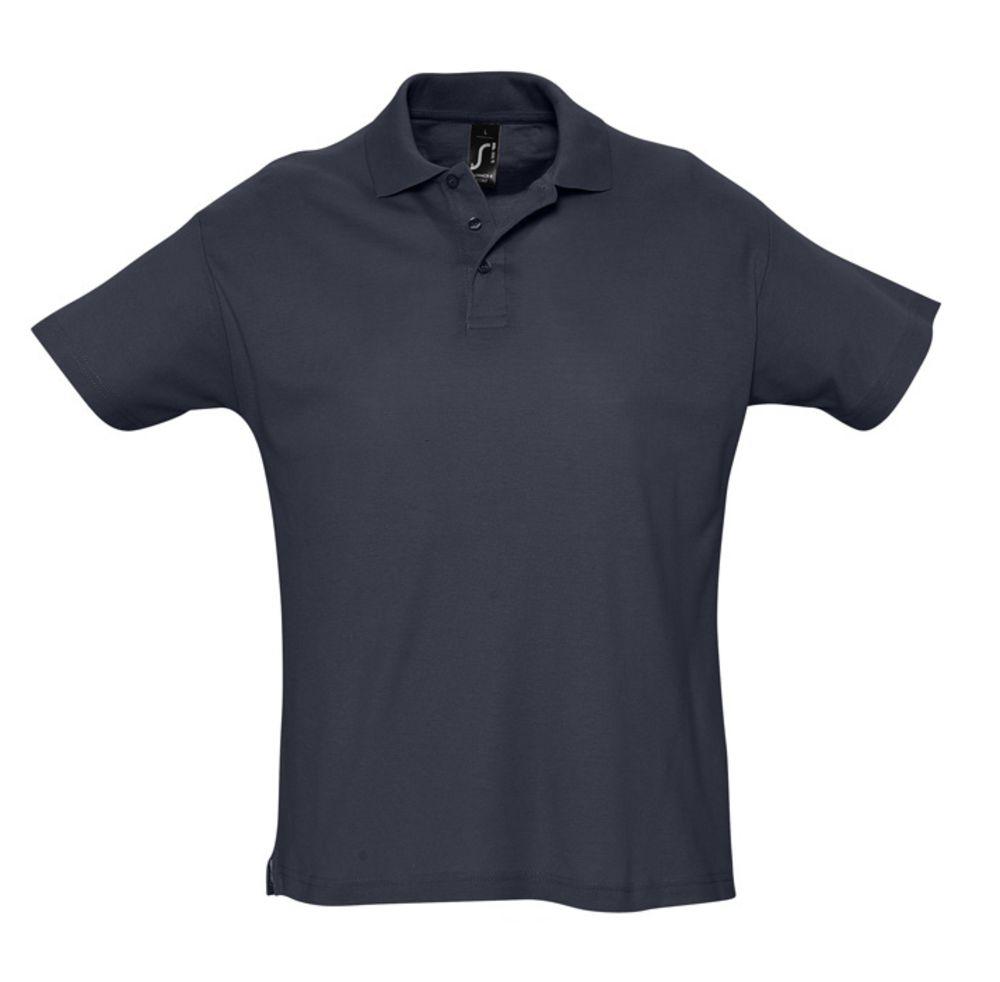 Рубашка поло мужская SUMMER 170 темно-синяя (navy)
