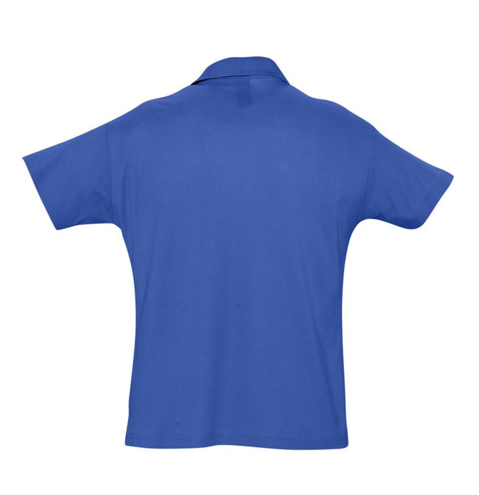 Рубашка поло мужская SUMMER 170 ярко-синяя (royal)