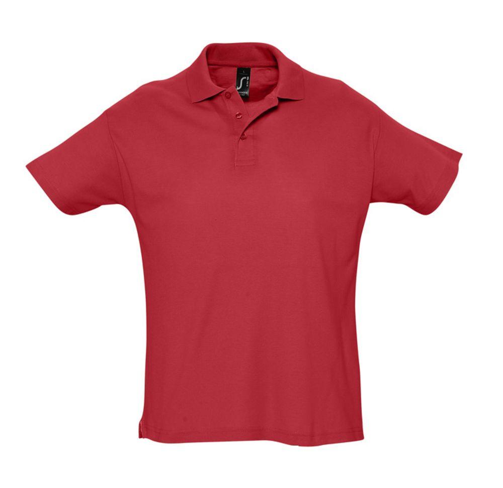Рубашка поло мужская SUMMER 170 красная