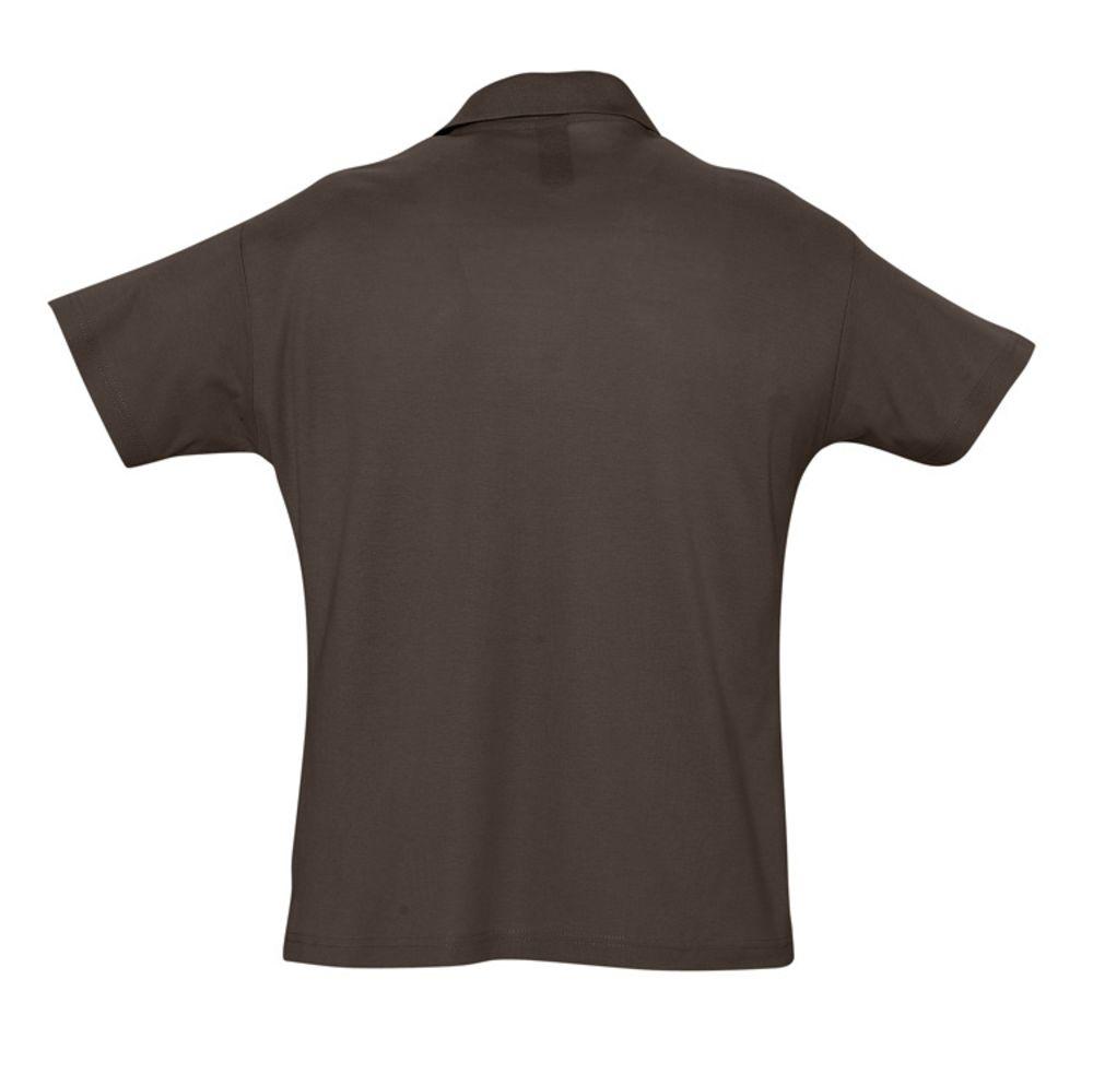 Рубашка поло мужская SUMMER 170 темно-коричневая (шоколад)