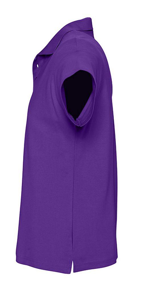 Рубашка поло мужская SUMMER 170 темно-фиолетовая