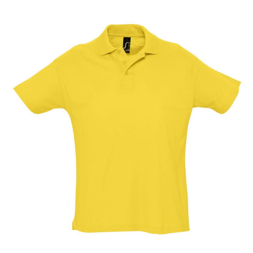 Рубашка поло мужская SUMMER 170 желтая