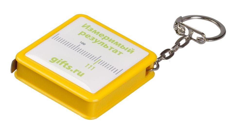 Брелок Square с рулеткой 1 м, желтый