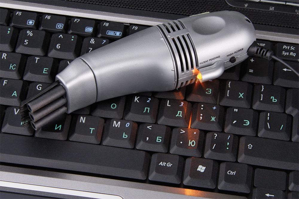 USB-пылесос для клавиатуры с LED-фонариком