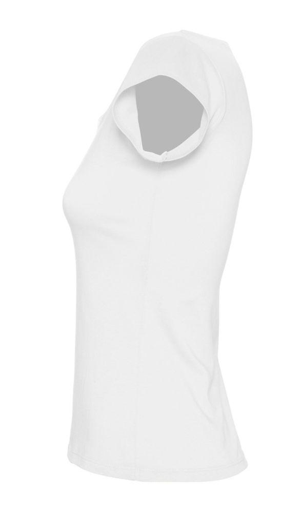 Футболка женская MELROSE 150 с глубоким вырезом белая