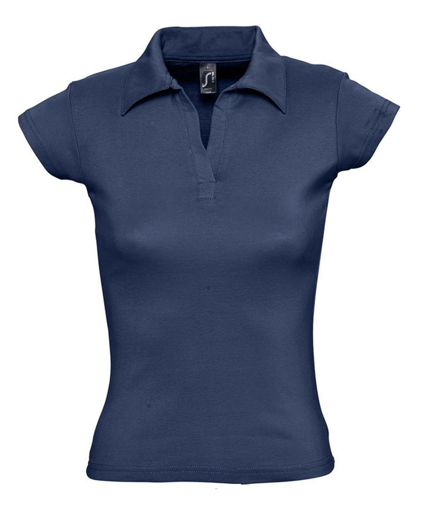 Рубашка поло женская без пуговиц PRETTY 220 кобальт (темно-синяя)