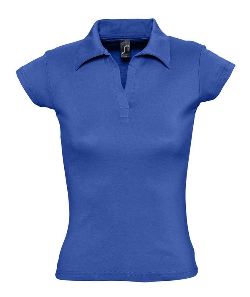 Рубашка поло женская без пуговиц PRETTY 220 ярко-синяя (royal)