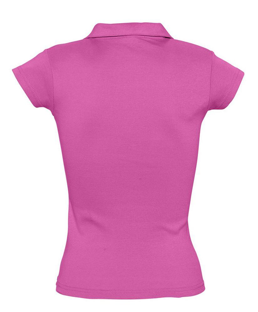 Рубашка поло женская без пуговиц PRETTY 220 ярко-розовая