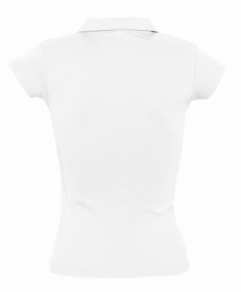 Рубашка поло женская без пуговиц PRETTY 220 белая