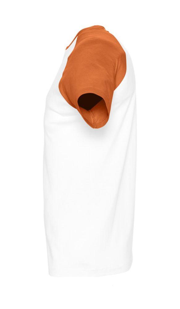 Футболка мужская двухцветная FUNKY 150, белый/оранжевый