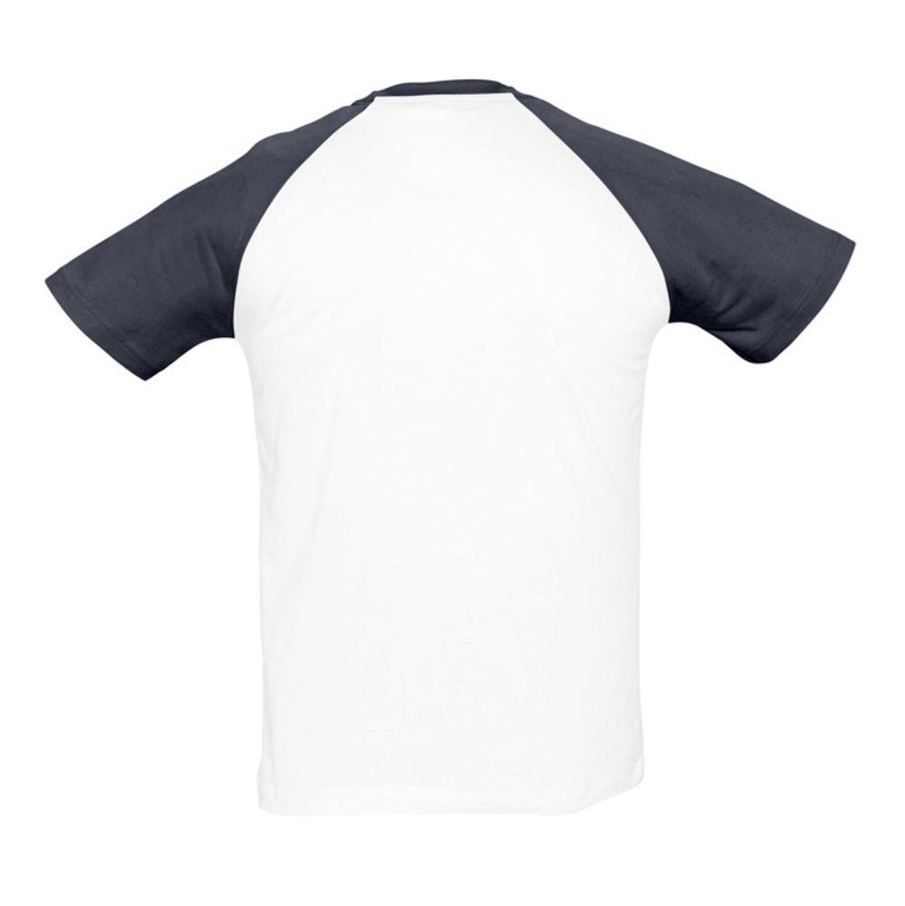 Футболка мужская двухцветная FUNKY 150, белый/темно-синий