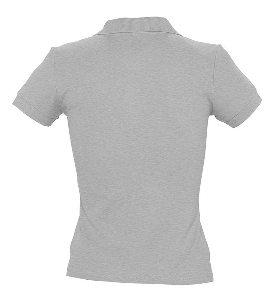 Рубашка поло женская PEOPLE 210 серый меланж