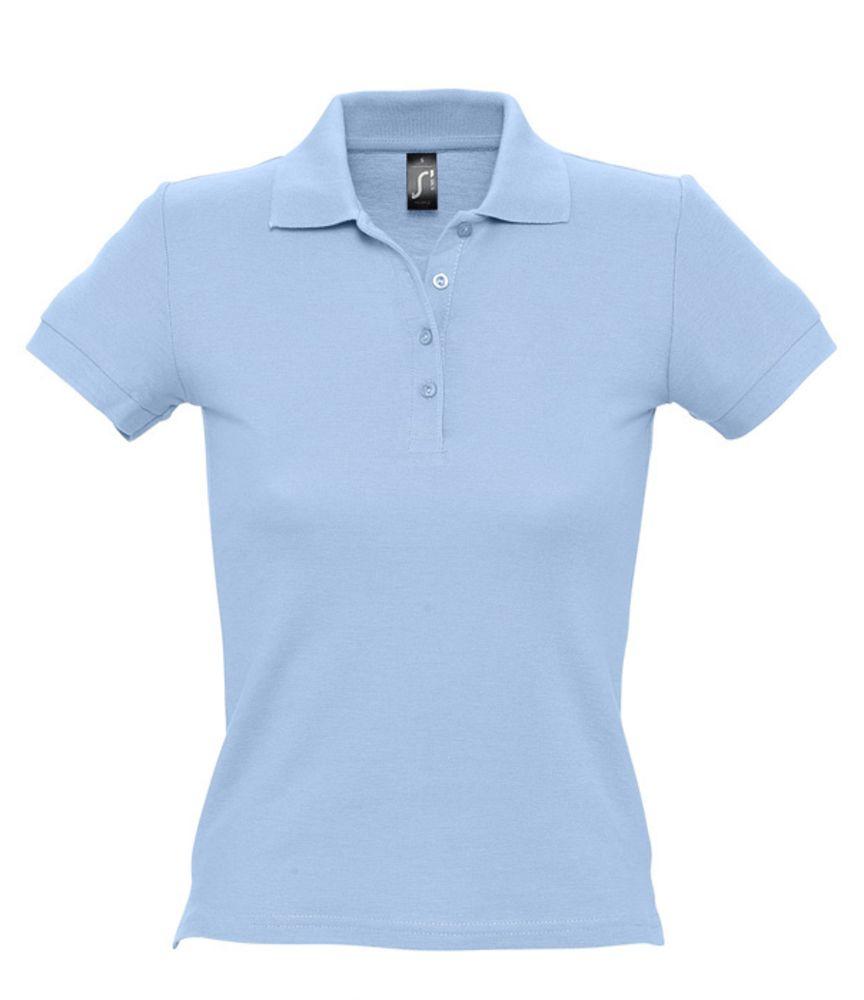 Рубашка поло женская PEOPLE 210 голубая