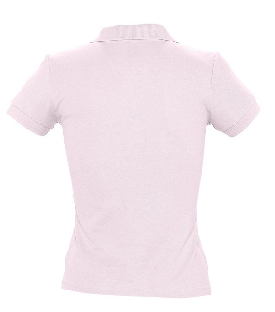 Рубашка поло женская PEOPLE 210 нежно-розовая