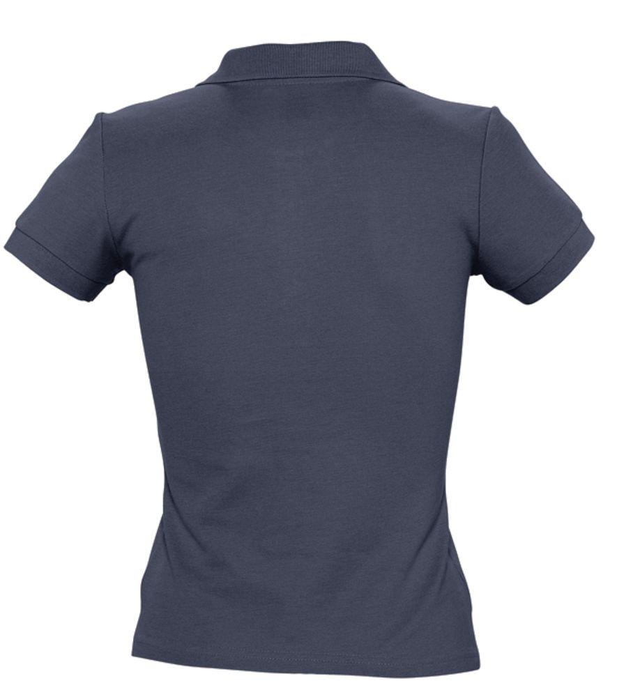 Рубашка поло женская PEOPLE 210 темно-синяя (navy)