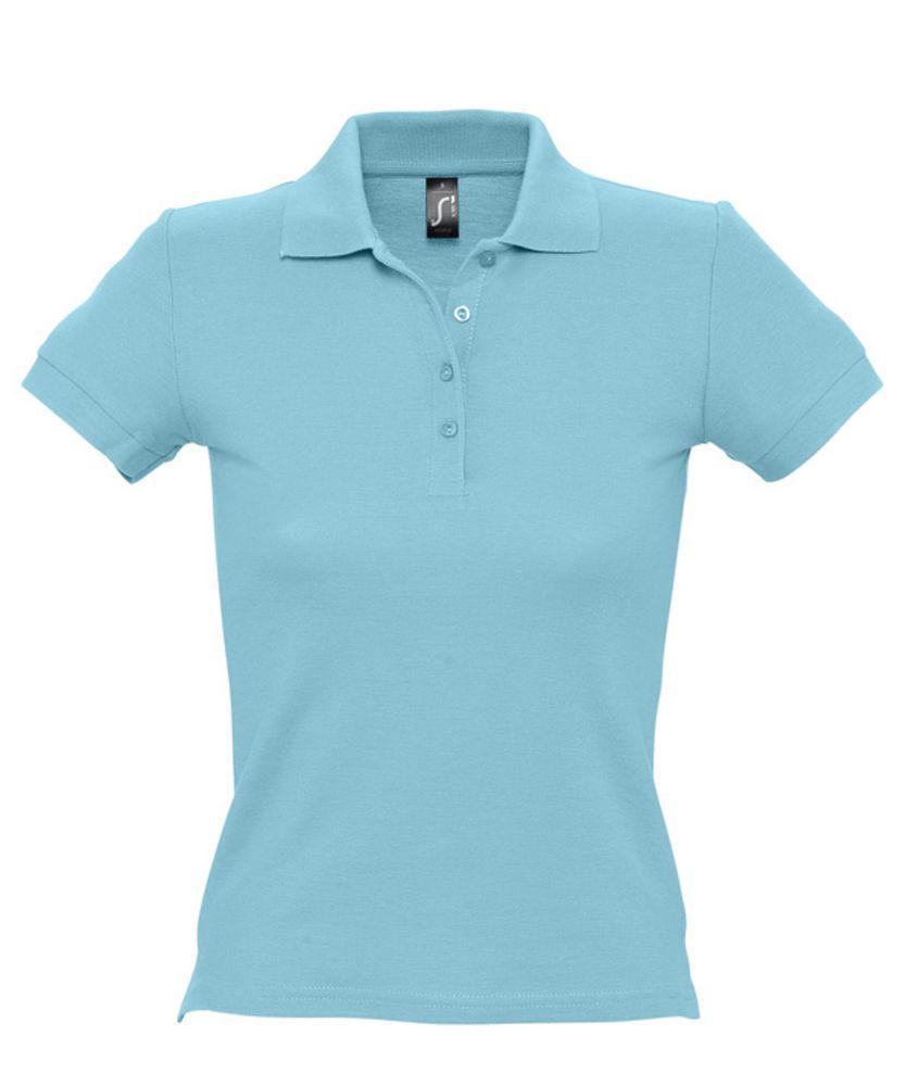 Рубашка поло женская PEOPLE 210 бирюзовая
