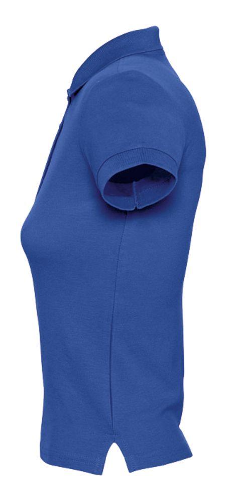 Рубашка поло женская PEOPLE 210 ярко-синяя