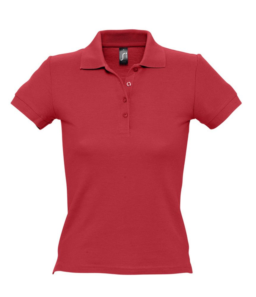 Рубашка поло женская PEOPLE 210 красная