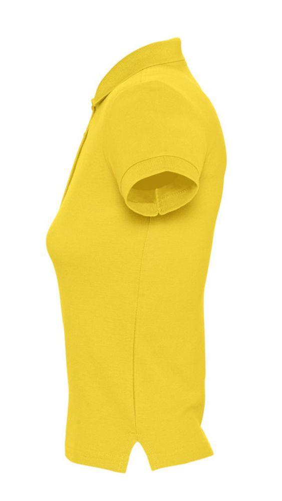 Рубашка поло женская PEOPLE 210 желтая