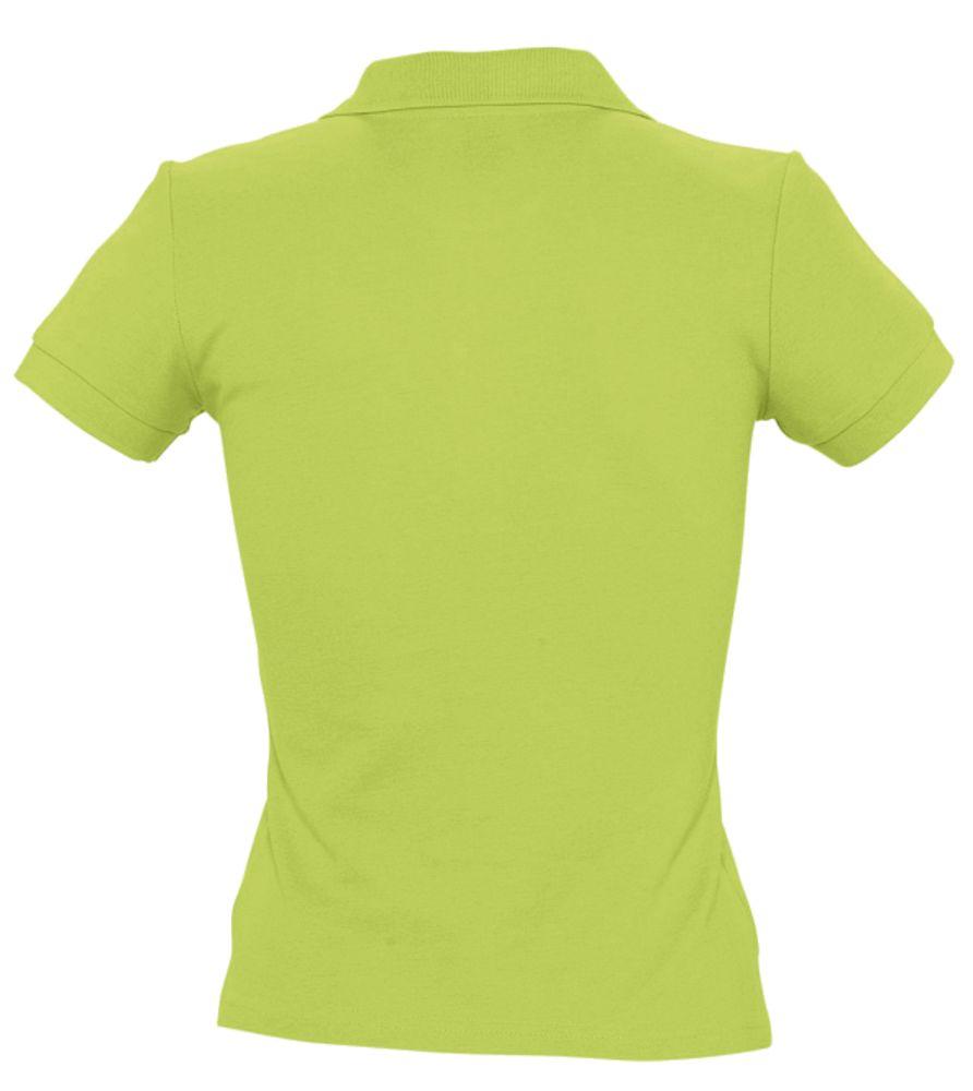Рубашка поло женская PEOPLE 210, зеленое яблоко