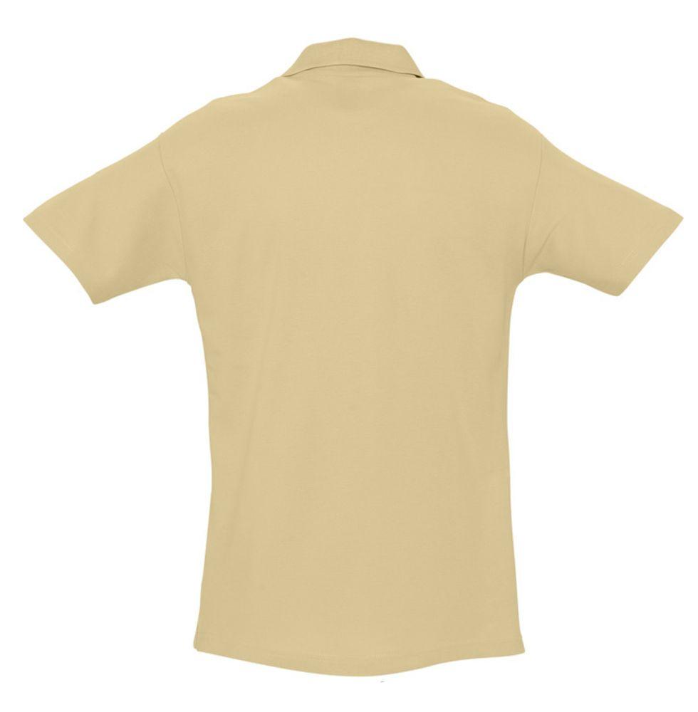 Рубашка поло мужская SPRING 210 бежевая