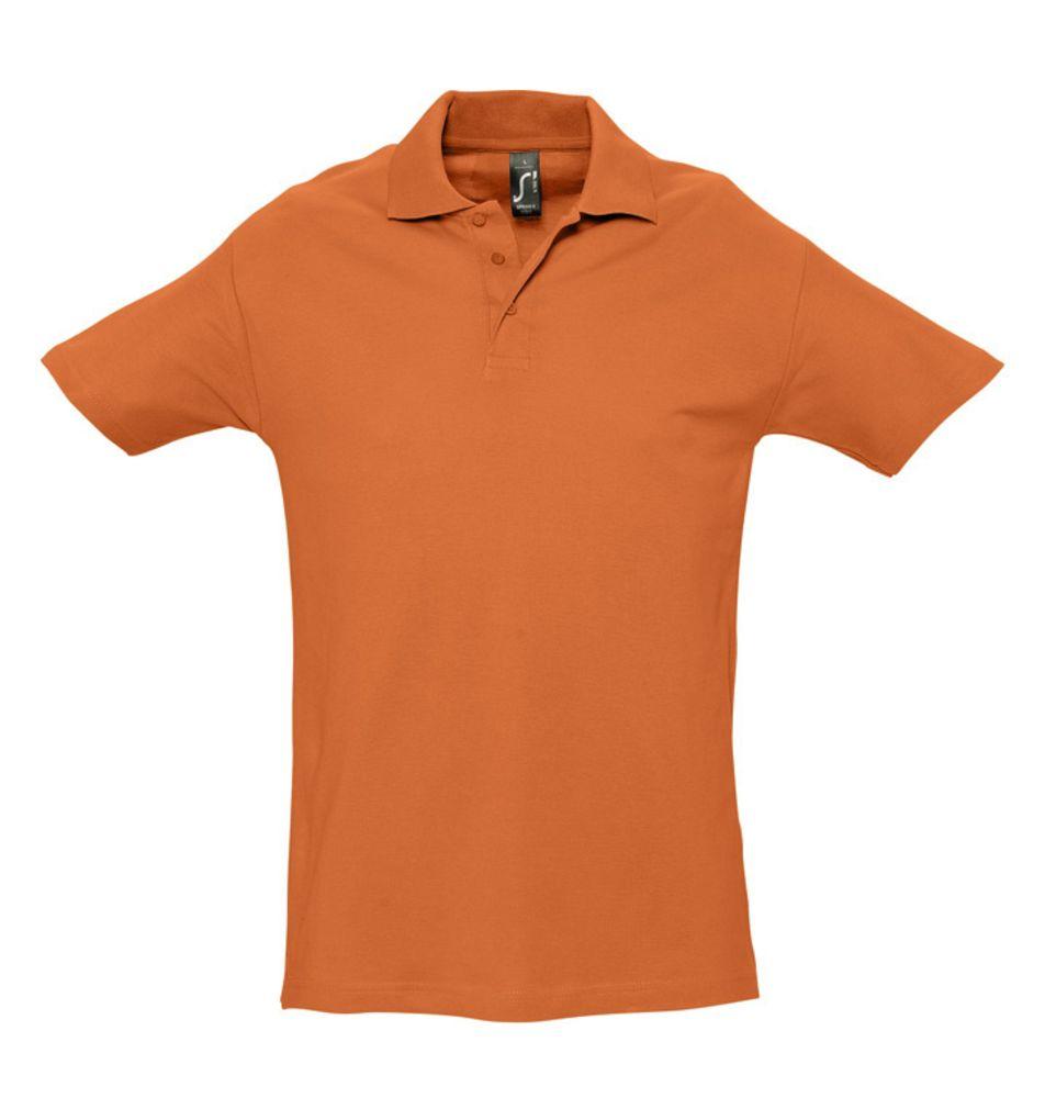 Рубашка поло мужская SPRING 210 оранжевая