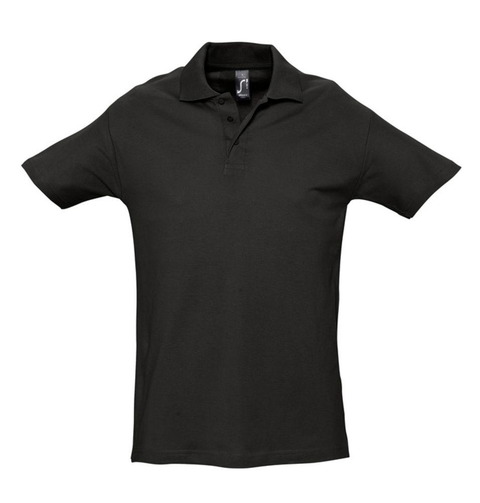 Рубашка поло мужская SPRING 210 черная