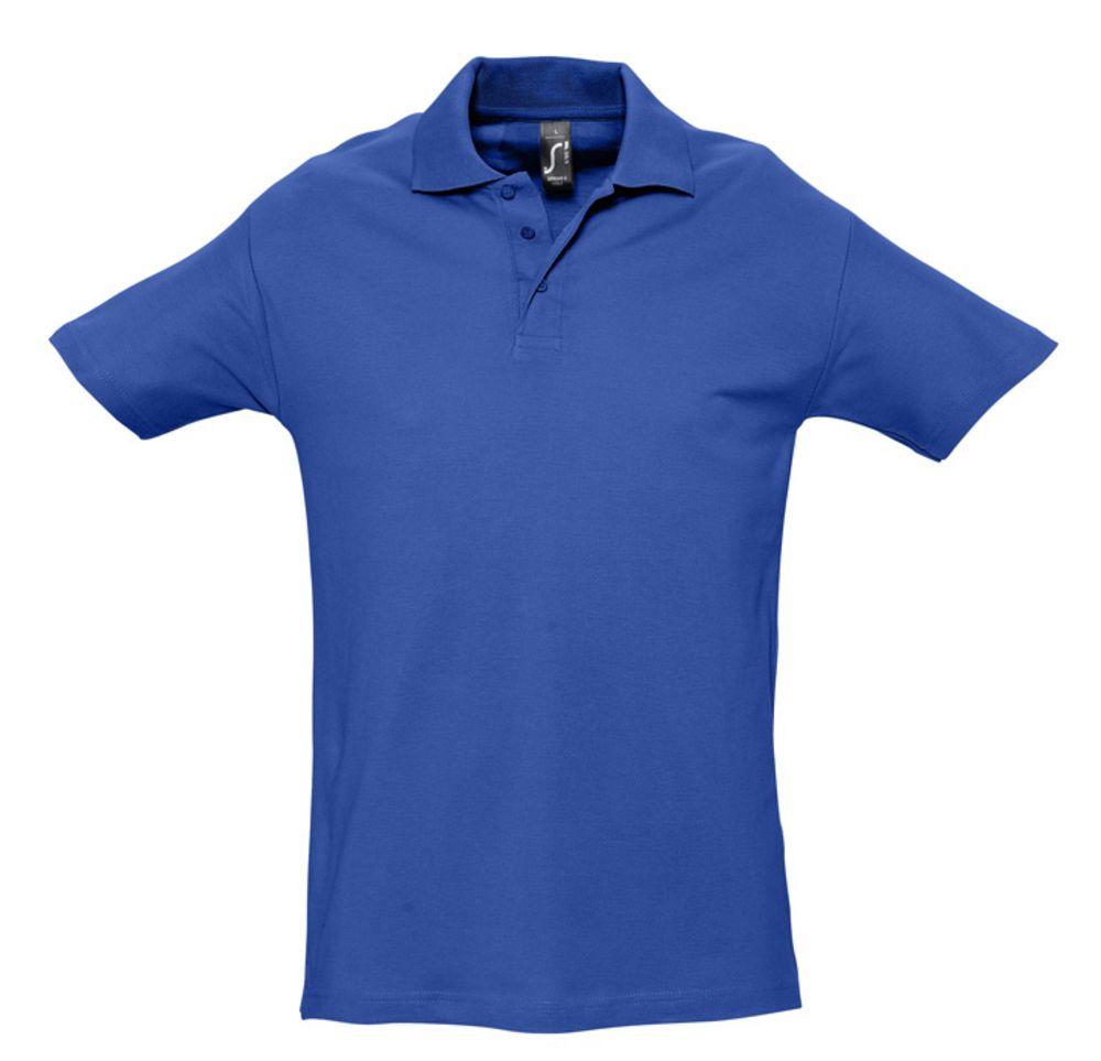 Рубашка поло мужская SPRING 210 ярко-синяя (royal)
