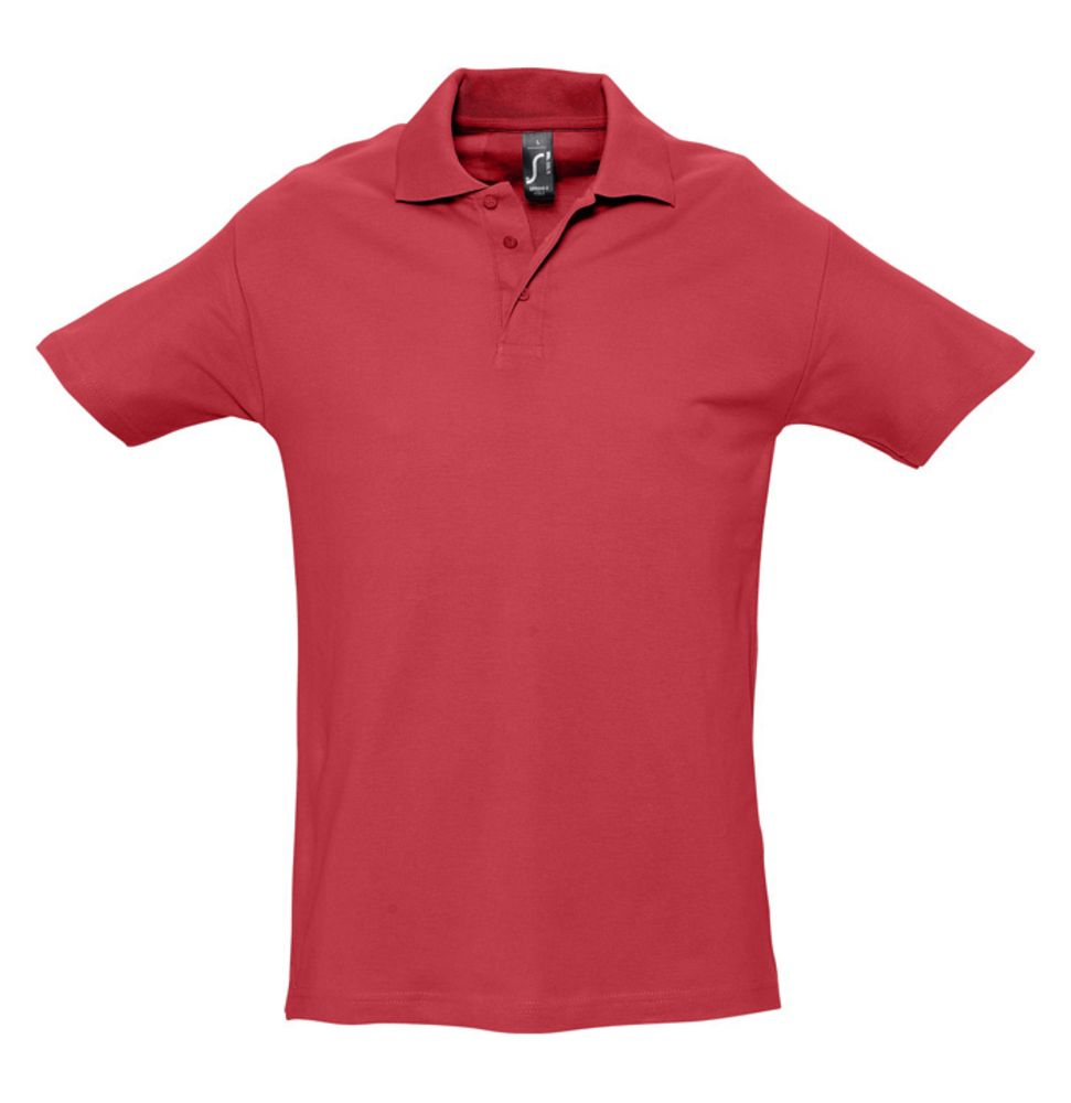 Рубашка поло мужская SPRING 210 красная