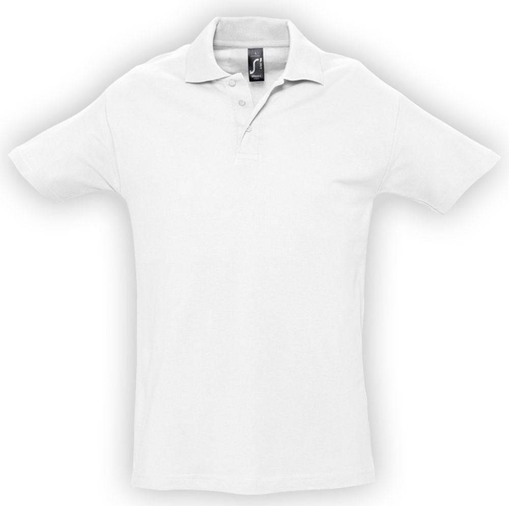Рубашка поло мужская SPRING 210 белая