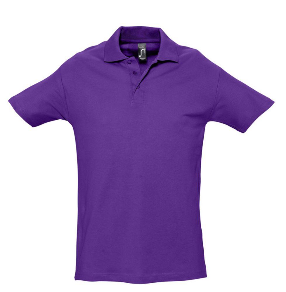 Рубашка поло мужская SPRING 210 темно-фиолетовая