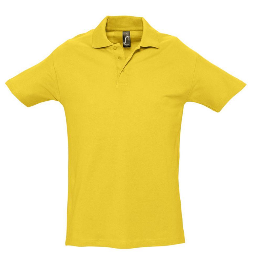 Рубашка поло мужская SPRING 210 желтая