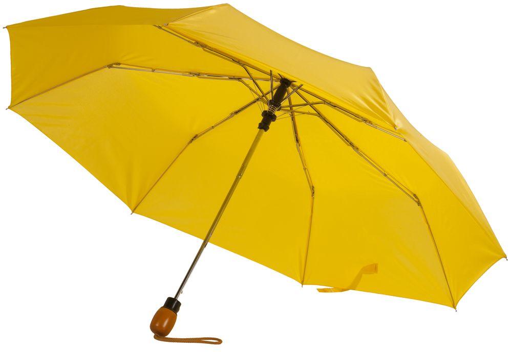 Зонт складной Wood, желтый