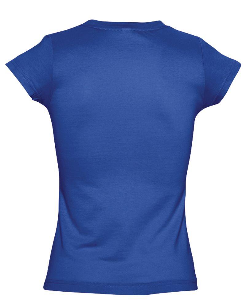 Футболка женская c V-образным вырезом MOON 150 ярко-синяя (royal)