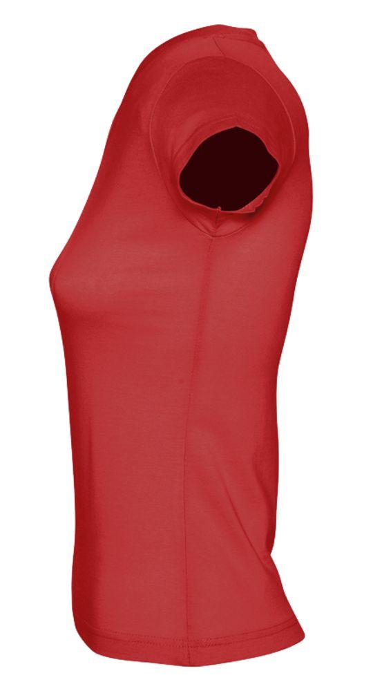 Футболка женская c V-образным вырезом MOON 150 красная