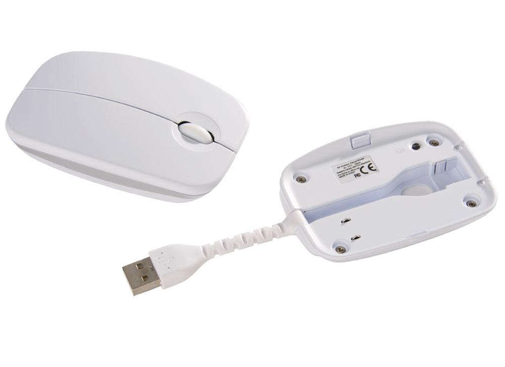 Мышь беспроводная, белая