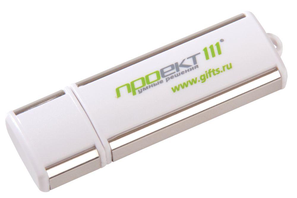 USB-флеш-карта, белая, 4 Гб