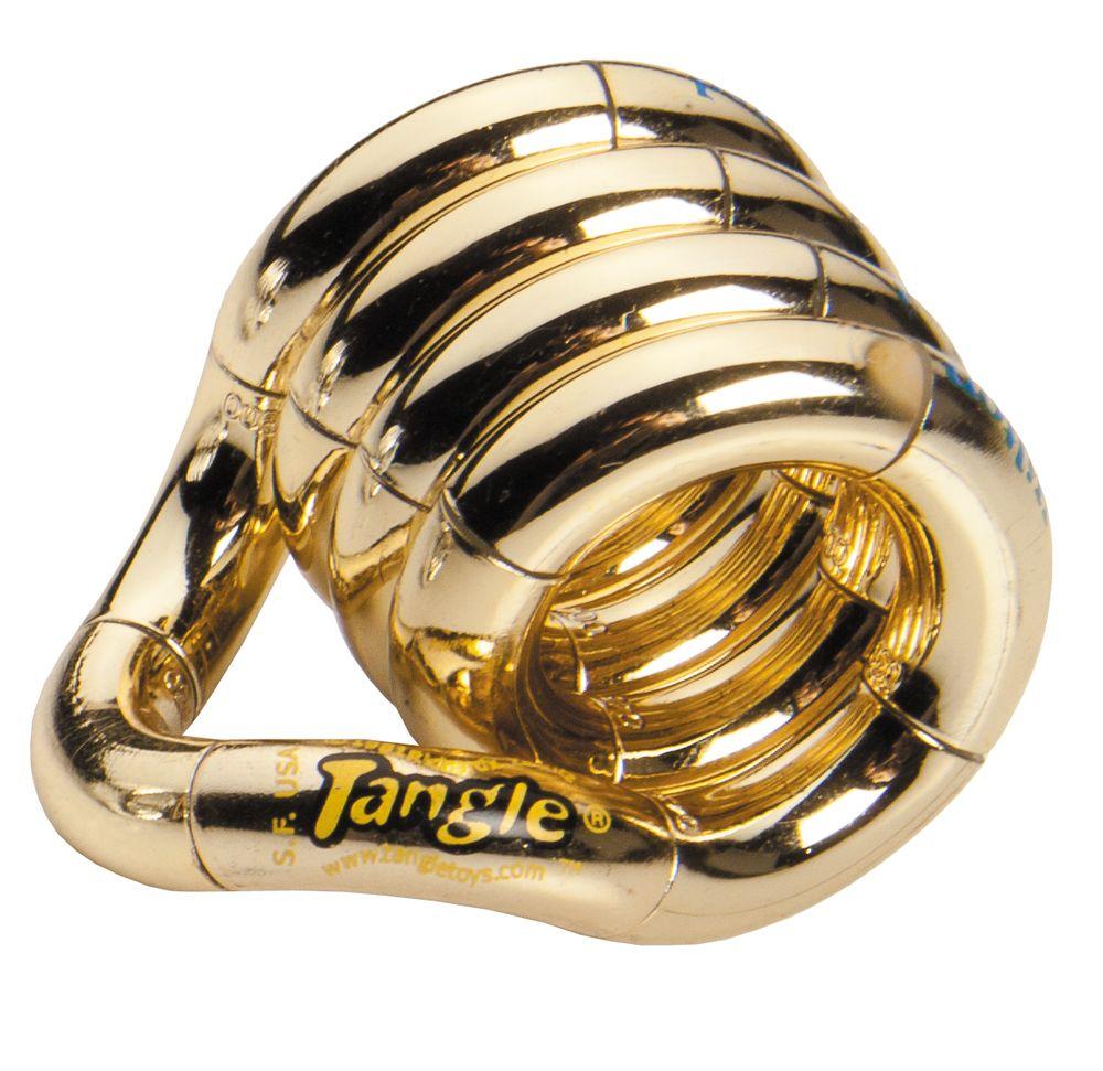 Антистресс Tangle, золотистый
