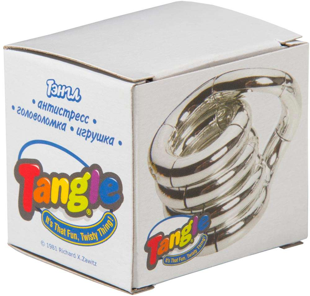 Антистресс Tangle, бело-синий
