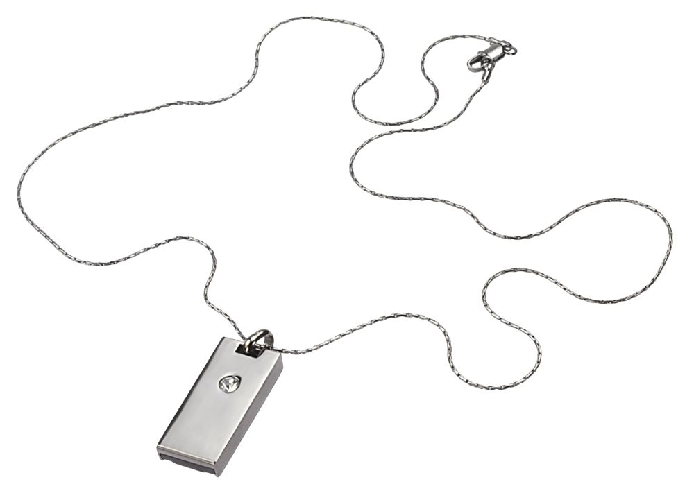 USB-флеш-карта «Кулон» на 4 Гб, светлый металл