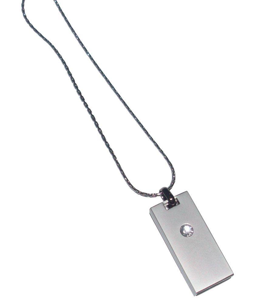 USB-флеш-карта «Кулон» на 8 Гб, светлый металл