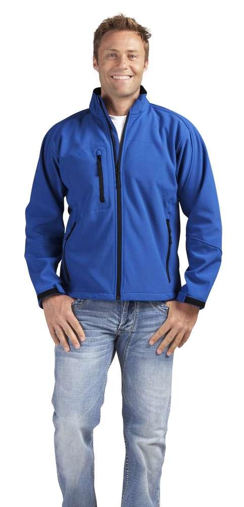 Куртка мужская на молнии RELAX 340 ярко-синяя