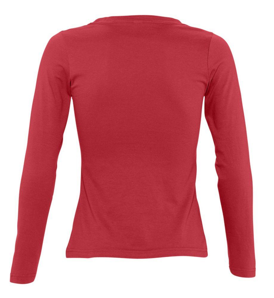 Футболка женская с длинным рукавом MAJESTIC 150 красная