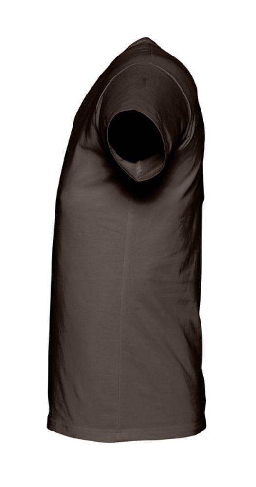 Футболка стрейч мужская MILANO 190 темно-коричневая (шоколад)