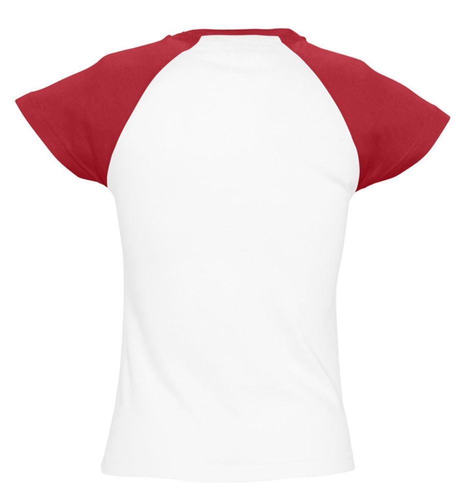 Футболка женская MILKY 150 белая с красным