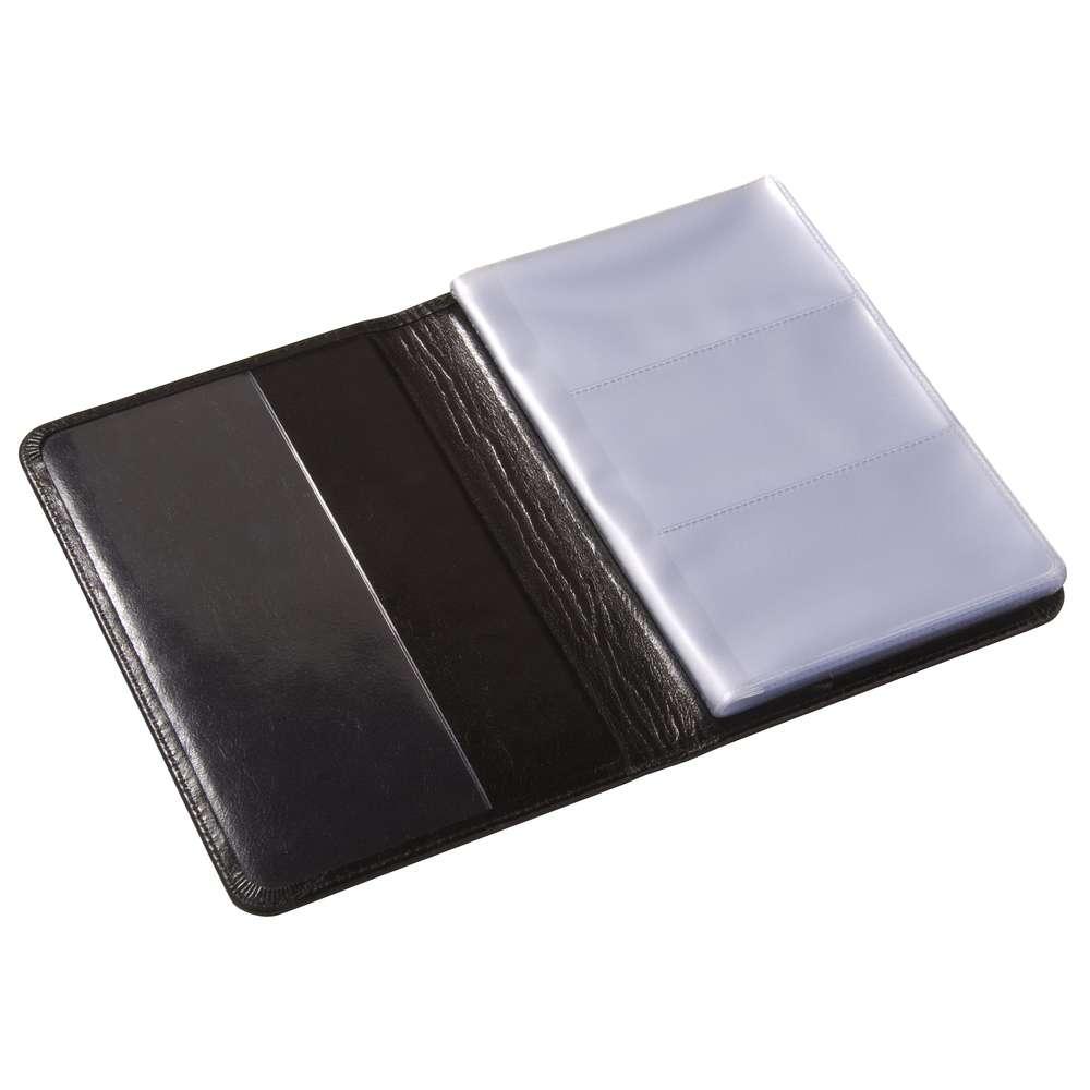 Визитница на 60 карточек, черная