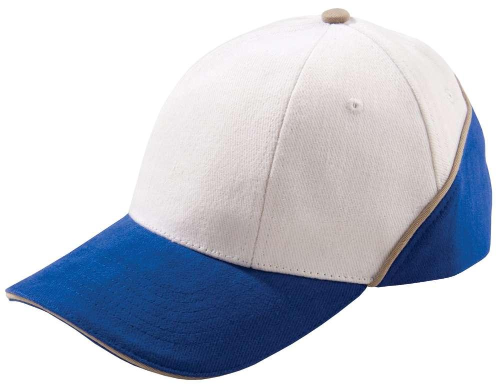 Бейсболка Unit Art, белая с синим